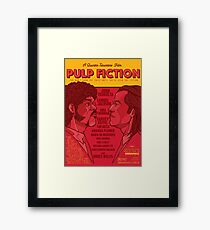 Marsellus y Vincent, Pulp Fiction cartel Framed Print