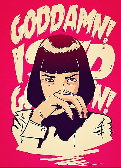Uma Thurman, Pulp Fiction Poster by mcache