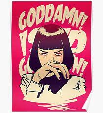 Uma Thurman, Pulp Fiction Poster Poster