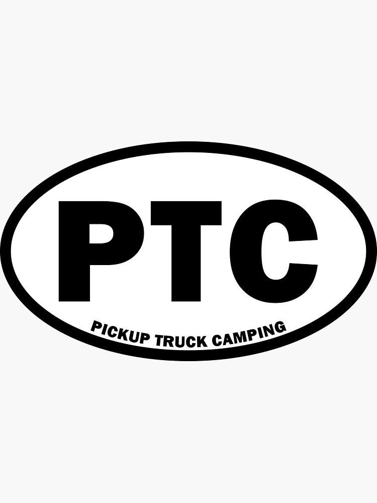 Pickup Truck Camping Oval Sticker by desktodirtbag