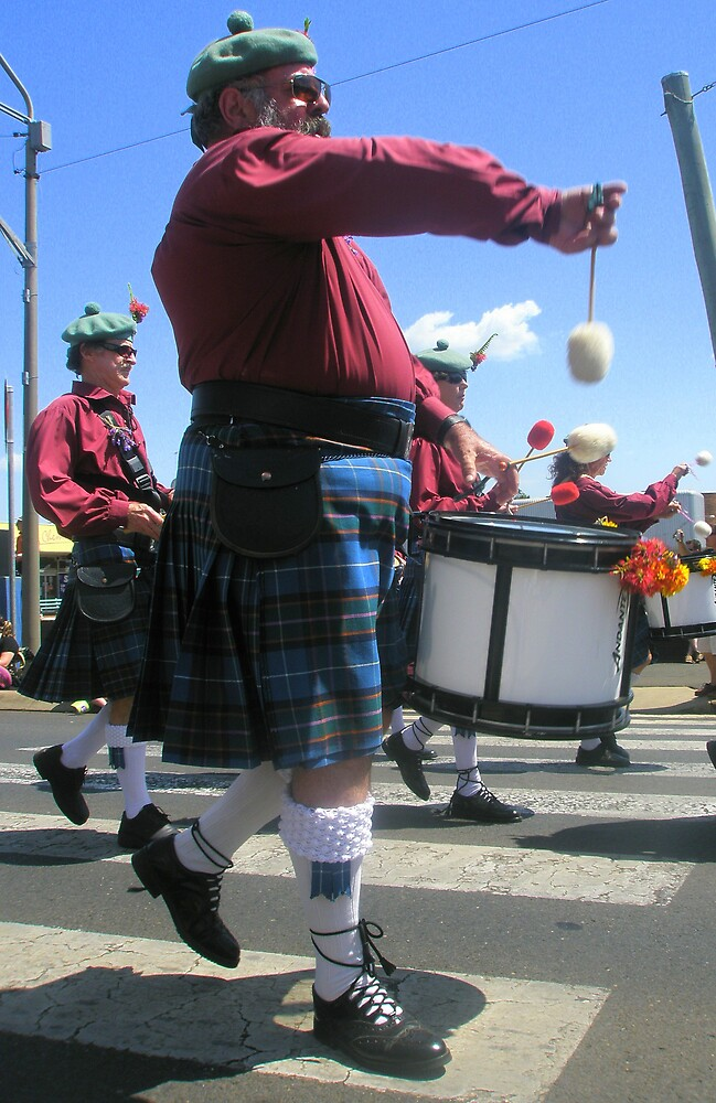 Drummer In A Kilt by Melissa Park