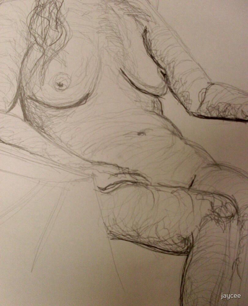 Nude sitting by jaycee