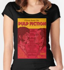 Marsellus y Vincent, Pulp Fiction cartel Women's Fitted Scoop T-Shirt