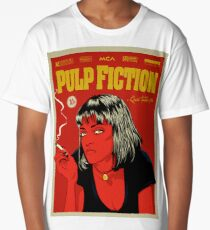 Cartel Uma Thurman, Pulp Fiction 10c Long T-Shirt