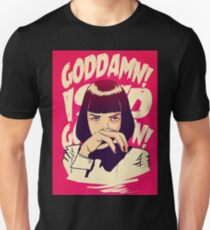 Uma Thurman, Pulp Fiction Poster T-Shirt
