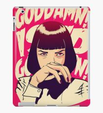 Uma Thurman, Pulp Fiction Poster iPad Case/Skin