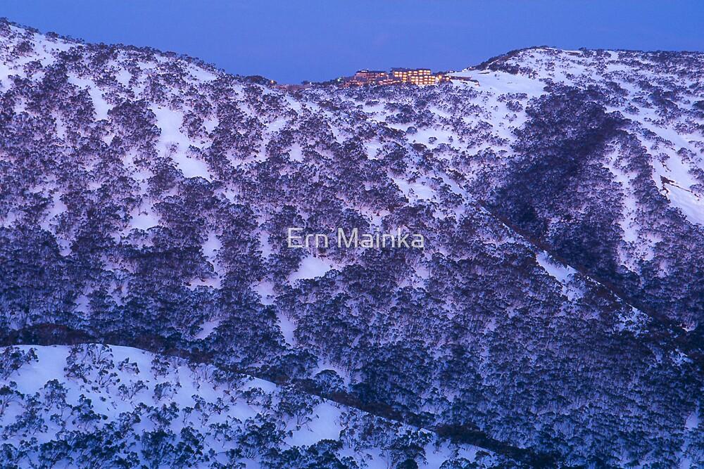 Mount Hotham, Victoria. by Ern Mainka