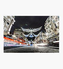 Christmas Lights on Regents Street Photographic Print