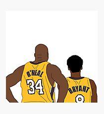 Kobe and Shaq Photographic Print