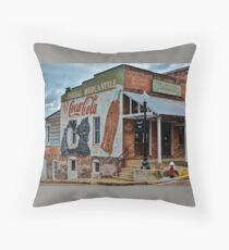 General Mercanite's Coca-Cola Wall Mural Ad Throw Pillow