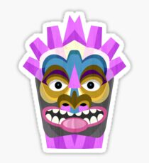 Tiki Time Tribal Mask Sticker