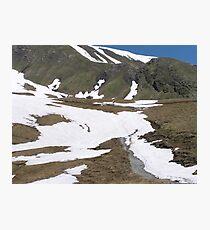 Hiking in Switzerland Photographic Print