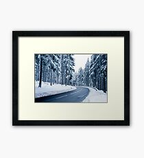 Winter Landscape. Framed Print