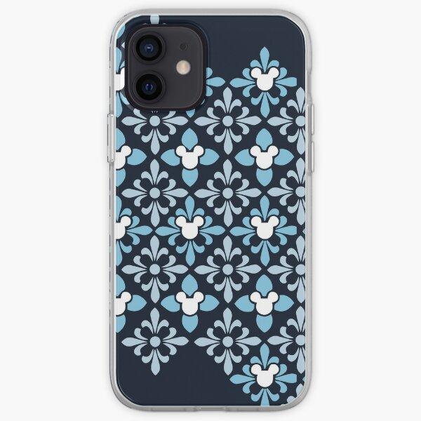 Indigo Hidden Character Pattern iPhone Soft Case