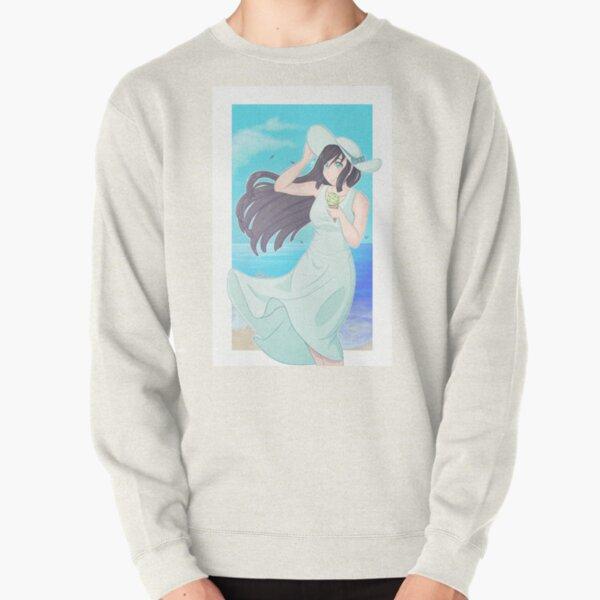 Girl on the beach Pullover Sweatshirt