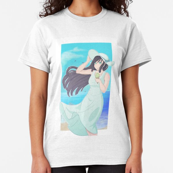 Girl on the beach Classic T-Shirt