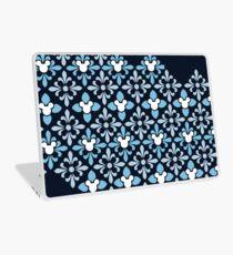 Indigo verstecktes Zeichen-Muster Laptop Folie