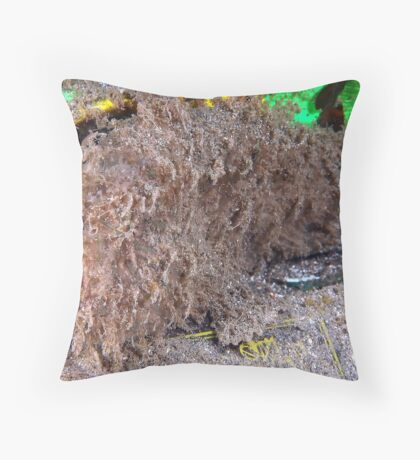 Hairy Frogfish Throw Pillow