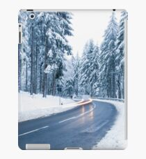 Winter Landscape. Mountain Road Covered by Snow. iPad Case/Skin