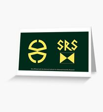 Doctor Who: Robot - the Scientific Reform Society logo Greeting Card
