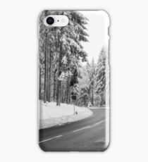 Mountain Road Covered by Snow. iPhone Case/Skin