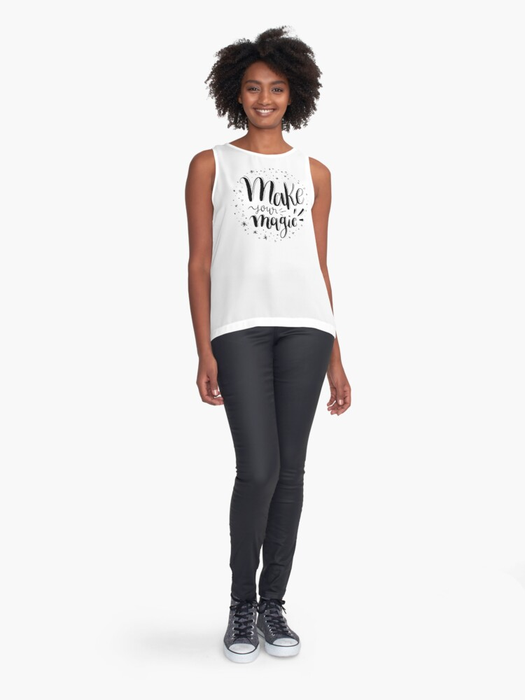 Alternate view of Make your magic - Hand lettering Sleeveless Top