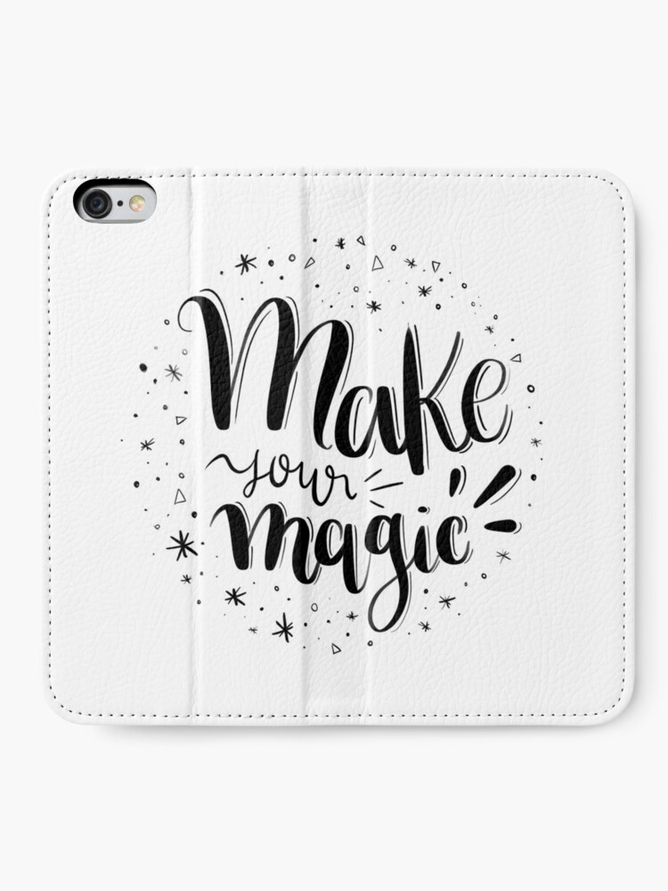 Alternate view of Make your magic - Hand lettering iPhone Wallet