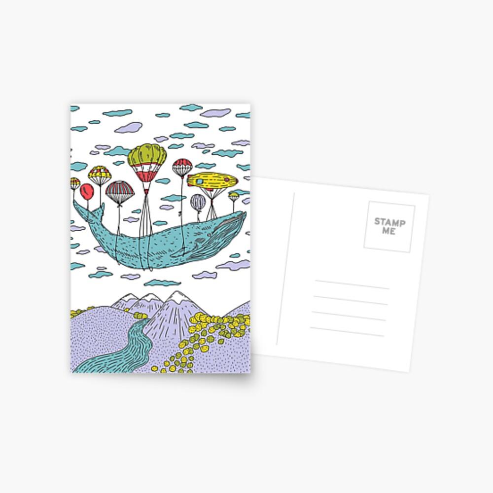 Whale Dream Whale Fantasy Art Postcard