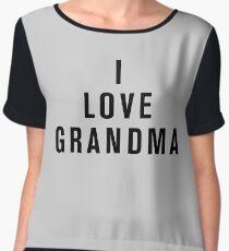 I Love Grandma Chiffon Top