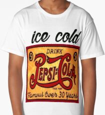 Ice cold drink Pepsi Cola Vintage rusty Antique T-shirt Long T-Shirt