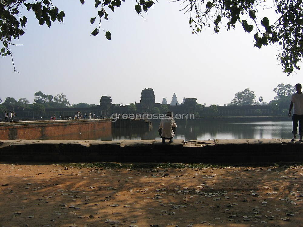 resting at angkor wat by greenrosestorm