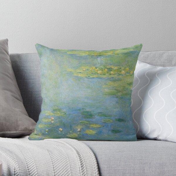 Claude Monet - Waterlilies  Throw Pillow