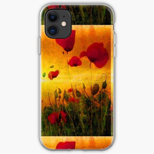 Poppy Sunset iPhone Soft Case