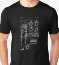 Clarinet Blueprint Design Shirt - Vintage Marching Band Tee T-Shirt