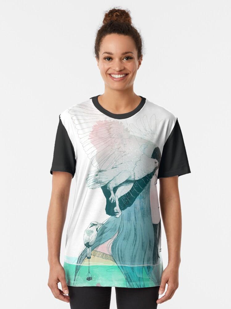 Vista alternativa de Camiseta gráfica MAR Y AIRE by elenagarnu