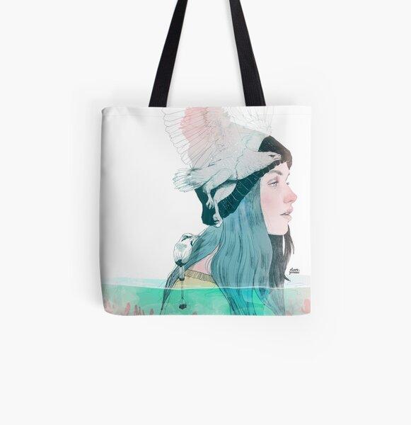 SEA AND AIR by elenagarnu All Over Print Tote Bag