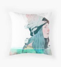 SEA AND AIR by elenagarnu Throw Pillow