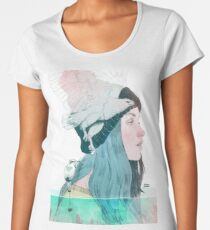 SEA AND AIR by elenagarnu Premium Scoop T-Shirt