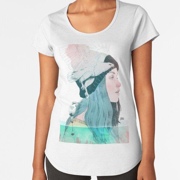 SEA AND AIR by elenagarnu Premium Scoop T-Shirt