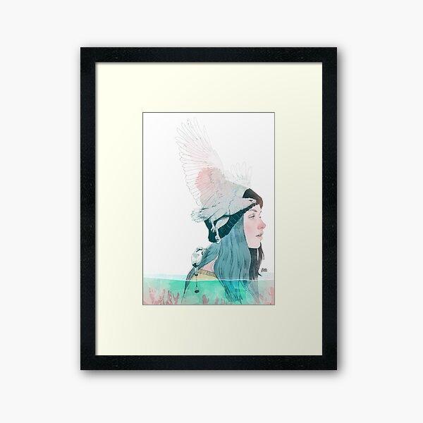SEA AND AIR by elenagarnu Framed Art Print
