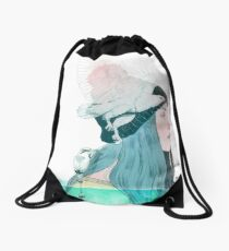 SEA AND AIR by elenagarnu Drawstring Bag
