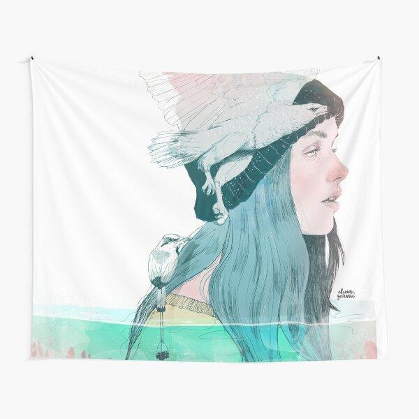 SEA AND AIR by elenagarnu Tapestry