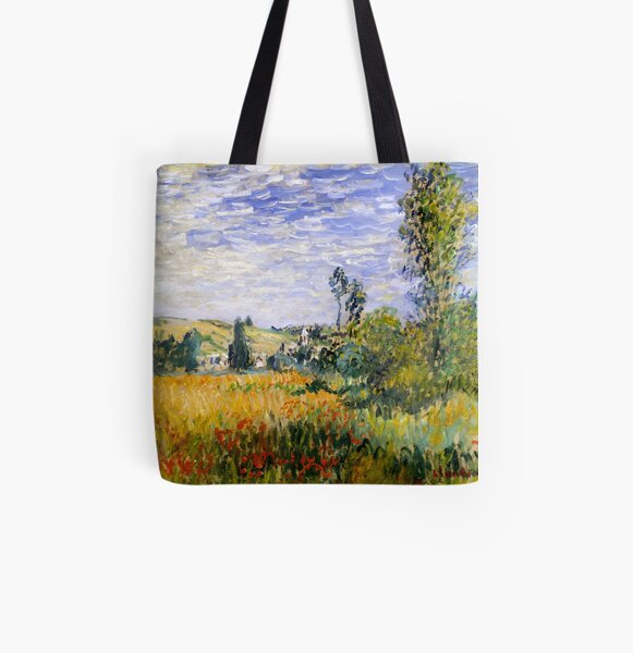Vetheuil - Impressionist Landscape - Claude Monet All Over Print Tote Bag
