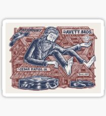 Poster The Avett Brothers - At the Paramount, in Cedar Rapids, IA, October 06, 2017 Sticker