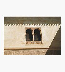 Alhambra Windows Photographic Print