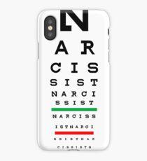 Narcissist Eye Chart iPhone Case/Skin