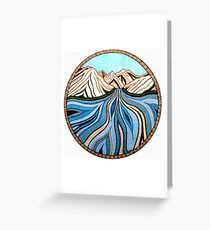 Glacial River Greeting Card