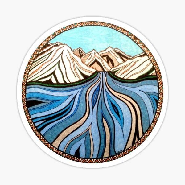 Glacial River Sticker