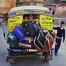 School Childs in Tuk Tuk - India by Christophe Dur