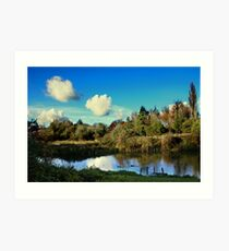 River Itchin, Nr. Tun Bridge Art Print